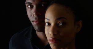 Afro-americanos novos do retrato dois fotografia de stock