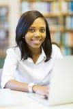 Afro Amerikaanse student Stock Foto's