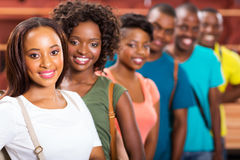 Afro Amerikaanse studenten stock foto's