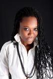 Afro-Amerikaanse vrouw Royalty-vrije Stock Afbeeldingen