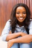 Afro Amerikaanse vrouwelijke student Stock Afbeelding