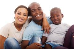 Afro- amerikanfamilj Arkivbilder