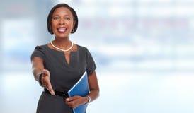 Afro-amerikanische Geschäftsfrau stockfotos
