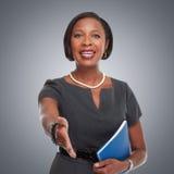 Afro-amerikanische Geschäftsfrau lizenzfreies stockfoto