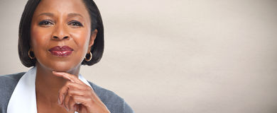 Afro-amerikanische Geschäftsfrau lizenzfreies stockbild