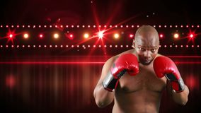 Afro-amerikanischer Boxer stock video