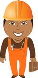 Afro- amerikansk arbetare - home förlage vektor illustrationer