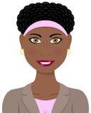 Afro- amerikansk kvinna för affär Royaltyfri Bild