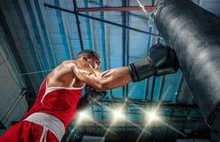 Afro- amerikansk manlig boxare Royaltyfri Foto