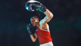 Afro- amerikansk manlig boxare Royaltyfri Fotografi