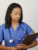 afro amerikansk medicinsk tekniker Fotografering för Bildbyråer