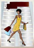 afro amerikansk stads- kvinna Arkivfoto