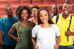 Afro amerikanska studenter för grupp Royaltyfria Bilder