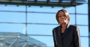 afro - amerykański biura kobieta zdjęcie stock