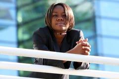 afro - amerykański biura kobieta fotografia stock