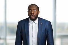 Afro amerykański biznesmen zaskakujący Zdjęcie Stock