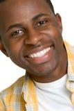 afro - amerykański człowiek się uśmiecha Obrazy Royalty Free