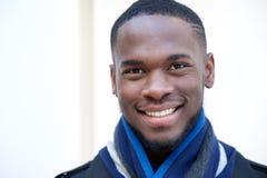 afro - amerykański człowiek się uśmiecha Fotografia Stock
