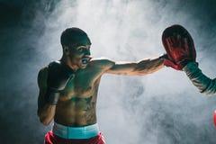 Afro amerykański męski bokser Fotografia Royalty Free