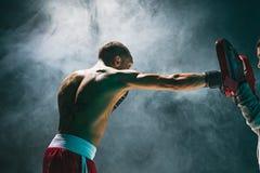 Afro amerykański męski bokser Obraz Royalty Free