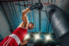 Afro amerykański męski bokser Zdjęcia Royalty Free
