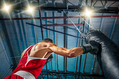 Afro amerykański męski bokser Obraz Stock