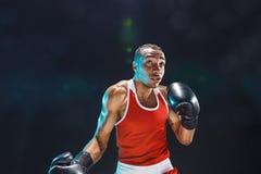 Afro amerykański męski bokser Zdjęcie Royalty Free