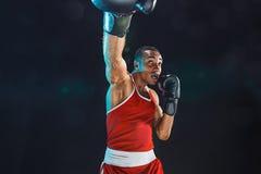Afro amerykański męski bokser Fotografia Stock