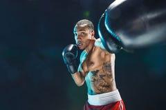 Afro amerykański męski bokser Zdjęcia Stock