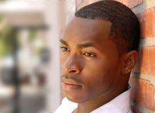 afro - amerykański męski otwartym portret Obrazy Stock