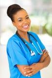 Afro amerykański medyczny stażysta Obrazy Royalty Free