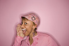 afro - amerykański portret kobiety obraz royalty free