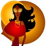 afro - amerykański upadku mody Zdjęcie Royalty Free