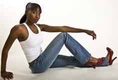 afro - amerykański wzorzec miły Zdjęcia Royalty Free
