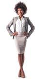 Afro amerykańska biznesowa kobieta Zdjęcie Stock