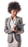 Afro amerykańska biznesowa kobieta Obraz Royalty Free