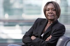 afro - amerykański biura kobieta Obrazy Royalty Free