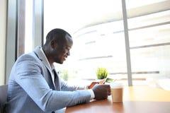 afro - amerykański biznesmen Zdjęcie Stock