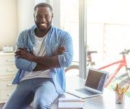 Afro Amerykański biznesmen w domu Obraz Stock
