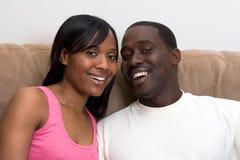 afro - amerykański blisko pary Zdjęcia Royalty Free