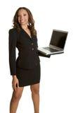 afro - amerykański laptopa kobieta Obraz Royalty Free