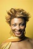afro - amerykański portret kobiety young Zdjęcia Royalty Free