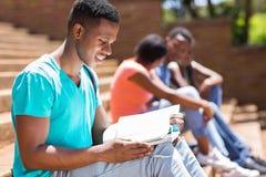 afro - amerykański student Obrazy Royalty Free
