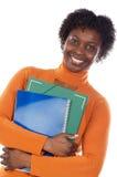 afro - amerykański student uniwersytetu Zdjęcia Royalty Free