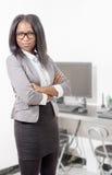 afro - amerykanów bizneswomanu portret Obrazy Royalty Free