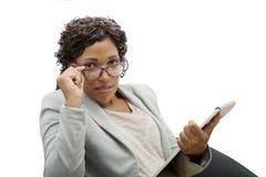 afro - amerykanów bizneswomanu portret Zdjęcie Stock