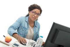 afro - amerykanów bizneswomanu portret Fotografia Royalty Free