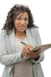 afro - amerykanów bizneswomanu portret Obraz Royalty Free