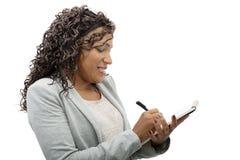 afro - amerykanów bizneswomanu portret Obraz Stock