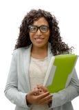 afro - amerykanów bizneswomanu portret Zdjęcia Royalty Free